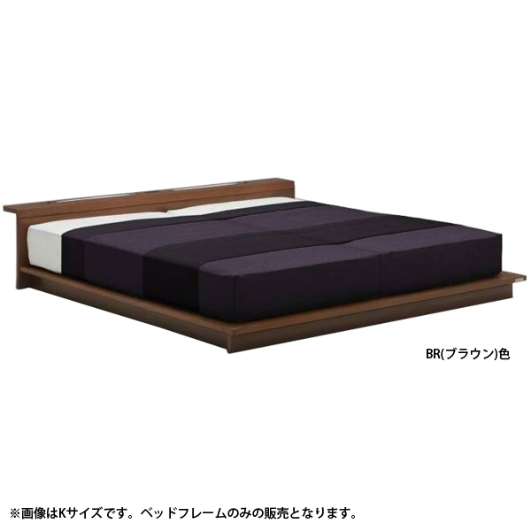 ベッドフレーム 【エルバード】 キャビネットタイプ Kサイズ