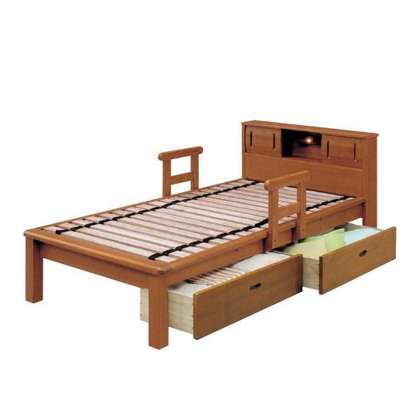 畳ベッド シングルベッド 小宮付き 江戸宮付 引出し付 【IPB-MCI-850】【Sサイズ】 bed 【送料無料】
