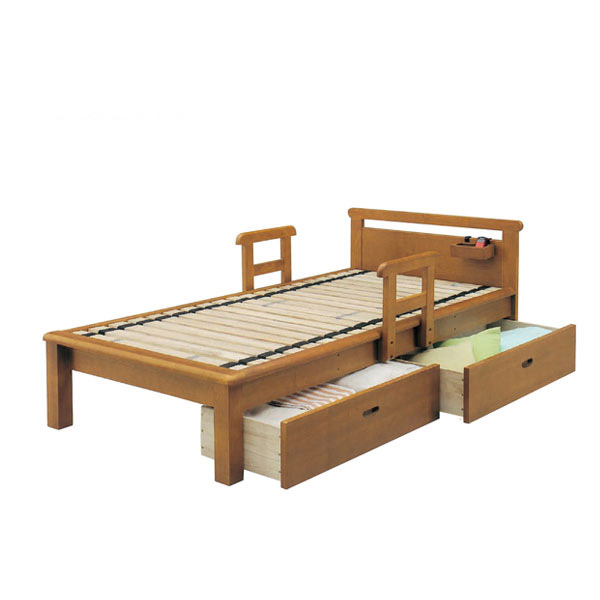 シングルベッド フラットタイプ すのこベッド 江戸 【ローリングスノコ仕様】 引出し付 【IPB-MCI-851】【Sサイズ】 bed