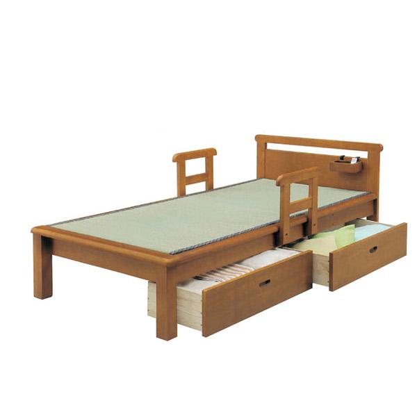 ポイントアップ&お得な限定クーポン配布中!~8/9 01:59迄 畳ベッド シングルベッド フラットタイプ 江戸フラット 引出し付 【IPB-MCI-852】【Sサイズ】 bed