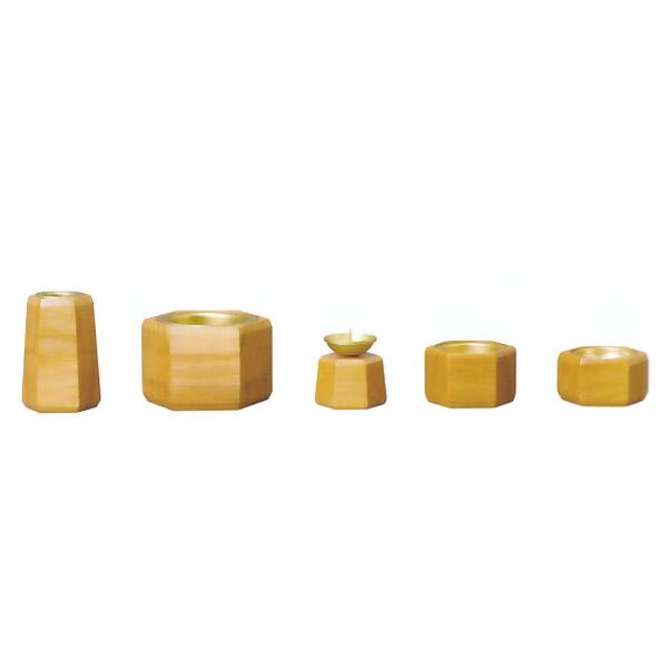 仏具 具足 お仏壇用 【杢 -モク- 5点セット】 5具足 家具調仏具 【送料無料】