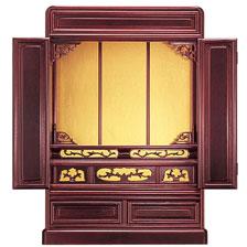 仏壇 上置仏壇 23号 唐木仏壇 ミニ仏壇 小型仏壇 【キース】 約50cm幅 【送料無料】