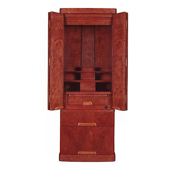 【価格交渉応じます】 仏壇 家具調仏壇 モダン仏壇 【ナチュレ】 14×40号 ブビンガ杢 一本立