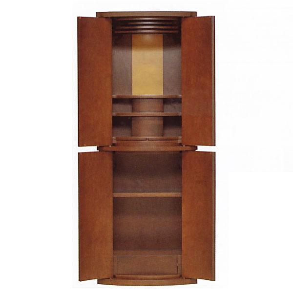 【価格交渉応じます】 仏壇 家具調仏壇 モダン仏壇 【クロイス】 15×46号 カバ 台付 ダーク色