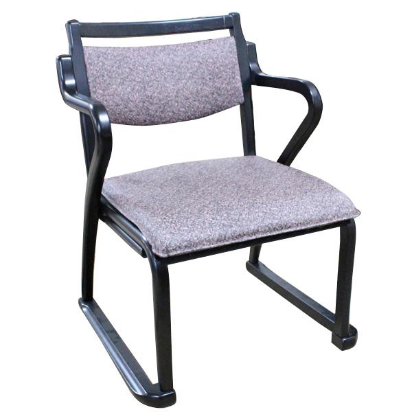 スタッキングチェア 【和座チェア2 肘付 2脚セット】 木製椅子/いす/ダイニングチェア/リビングチェア/食卓椅子/おしゃれ/シンプル