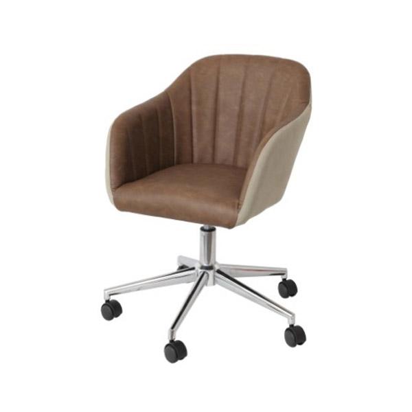 チェアー 椅子 【Rep】レップ 【デスクチェア 肘付き】 CH-2800BR-BE キャスター付 昇降機能付 肘掛有り