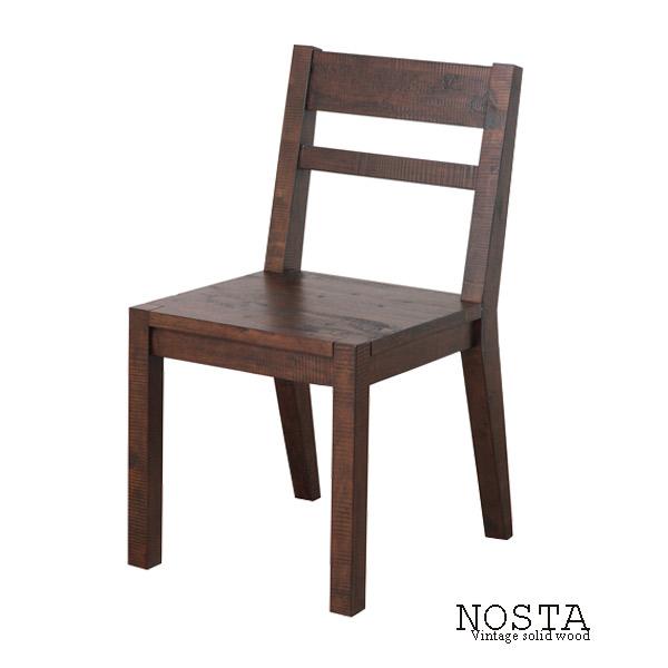 チェア 2脚セット NOSTA ノスタ【NS-6202】 ヴィンテージ風 椅子 木製 古木感 アンティーク