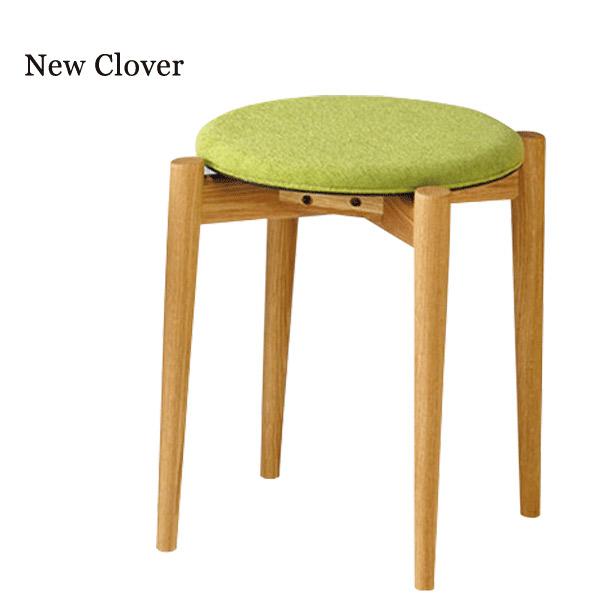 スツール【New Clover ニュークローバー スツール】オーク無垢材 高さ42【送料無料】