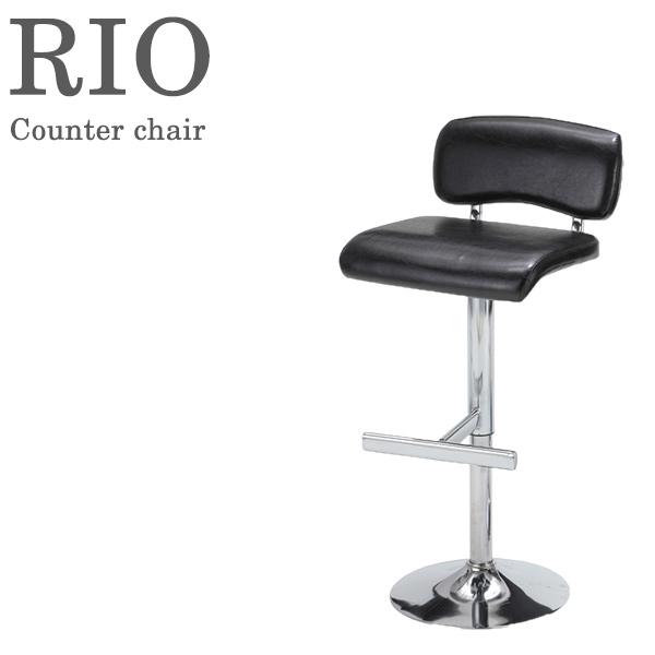 カウンターチェア TCC-649(ブラック) 椅子 昇降式 合成皮革 RIO 【送料無料】