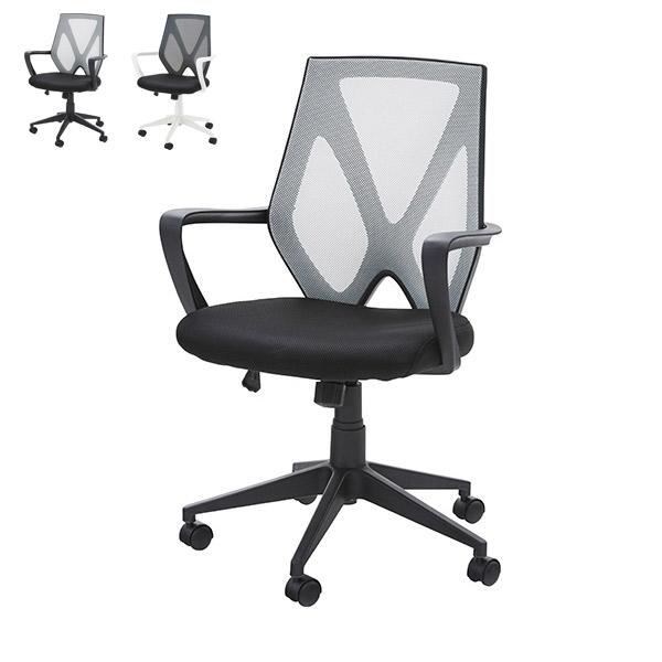 チェア【OFC-10BK/WH】オフィスチェア 椅子 イス パーソナルチェア パソコンチェアー