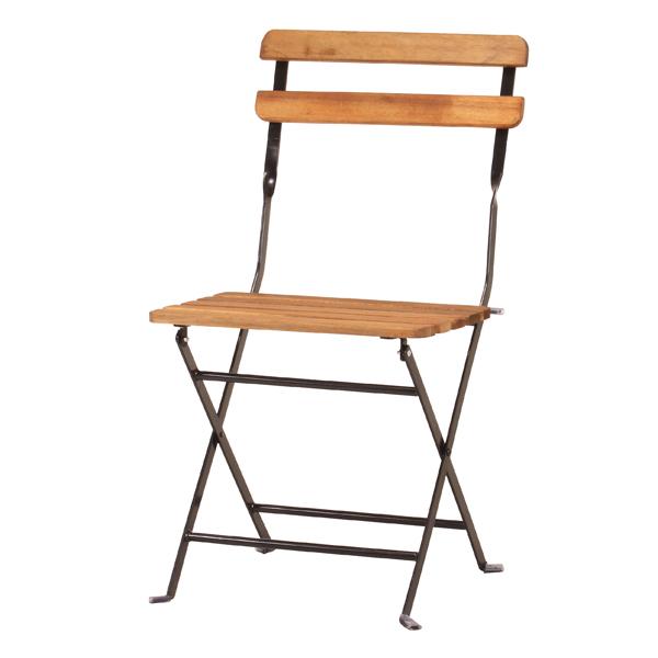 お買得 代引不可 イス 椅子 PRAIRIE プレリ PRE-C42 カフェチェア 折り畳み椅子 フォールディングチェア 折り畳みチェア 男女兼用 BK