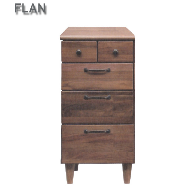 【FLAN】フラン チェスト(36-4段チェスト) 収納 タンス 箪笥 たっぷり収納 ウォールナット 無垢材 シンプル おしゃれ