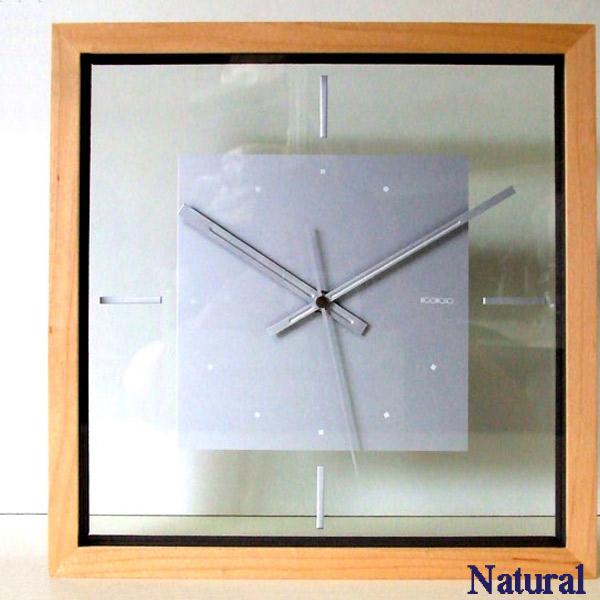 時計 clock クロック 壁掛け スペースクロック スイープ 掛置兼用 ブラウン V-4 ナチュラル 在庫一掃 正規品