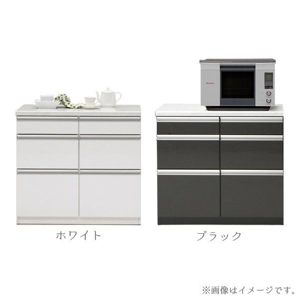 食器棚 【トパーズ90カウンター】 幅90 収納棚 選べるカラー2色 キッチン収納 台所棚