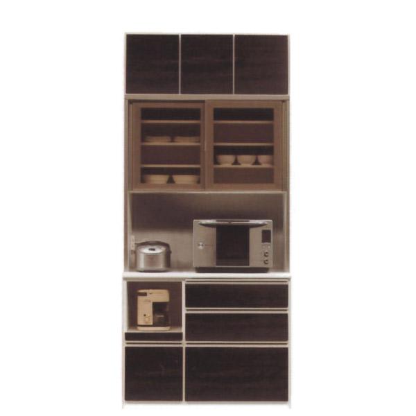 1100レンジA(オープン)/上置 【スペース】 ダイニングボード 【食器棚 木製 キッチン 収納棚 台所】 松田家具