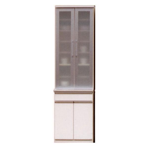 【送料無料】 キッチンボード 【ローラ 600食器棚】 60サイズ 耐震ラッチ付き! 奥行き49cm ピュアホワイト