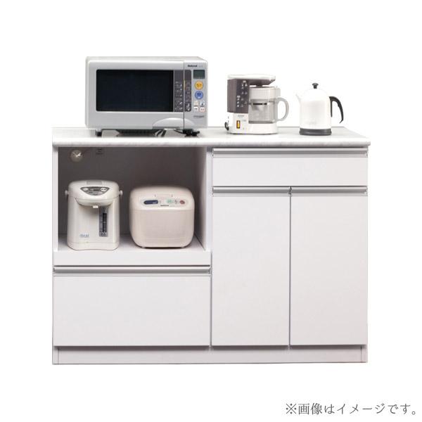 レンジ台 食器棚 幅120 日本製 COLOR カラー120オープンカウンター