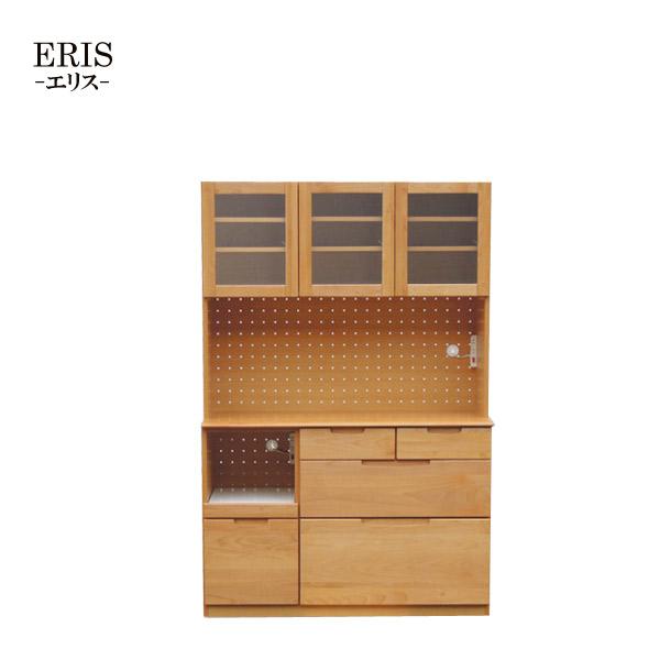 【エリス】120 OP (NA) オープンボード キッチンボード アルダー無垢材 収納棚 木製