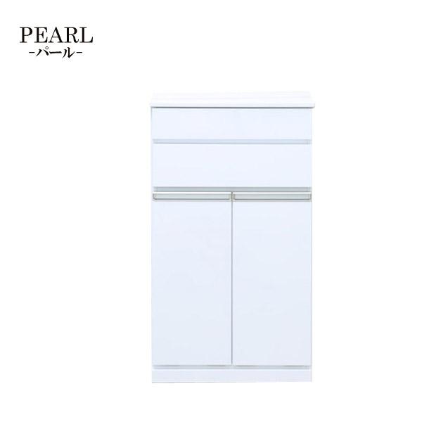 【パール】キャビネット 2D (WH) リビング収納 MDF シンプル ホワイト おしゃれ