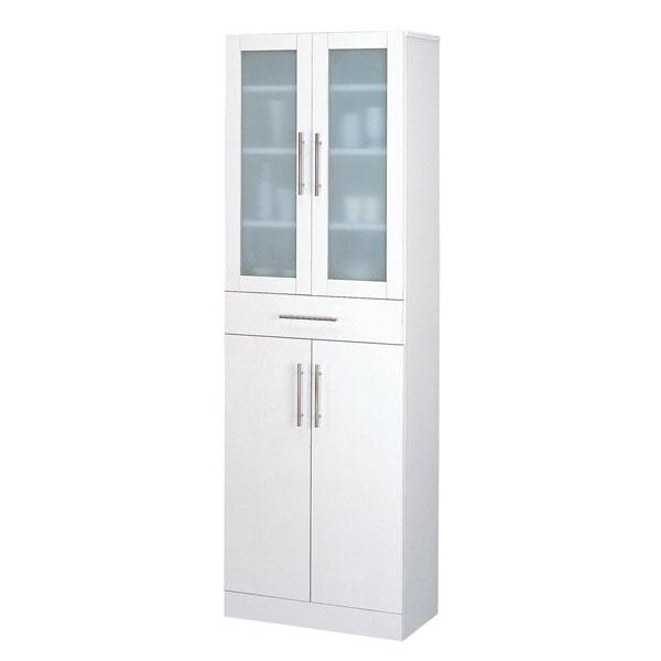 食器棚【カトレア食器棚60-180】(23461)シンプル 白 ホワイト 収納