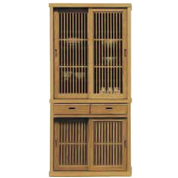 ダイニングボード 【有明 90食器棚】【食器棚 木製 キッチン 収納棚 台所】