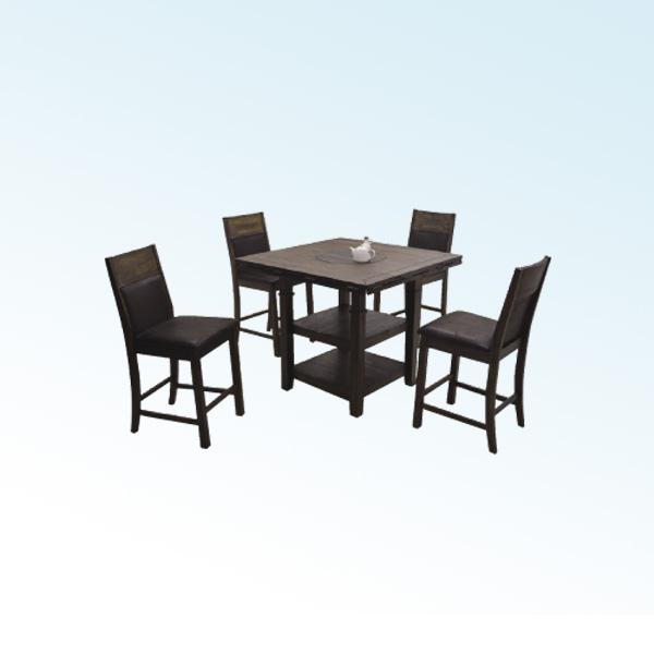 マルチテーブル5点セット(ハイタイプ) 【 Amazon アマゾン 】マルチテーブル ハイチェアー(4脚) ダイニングテーブルセット 【送料無料】