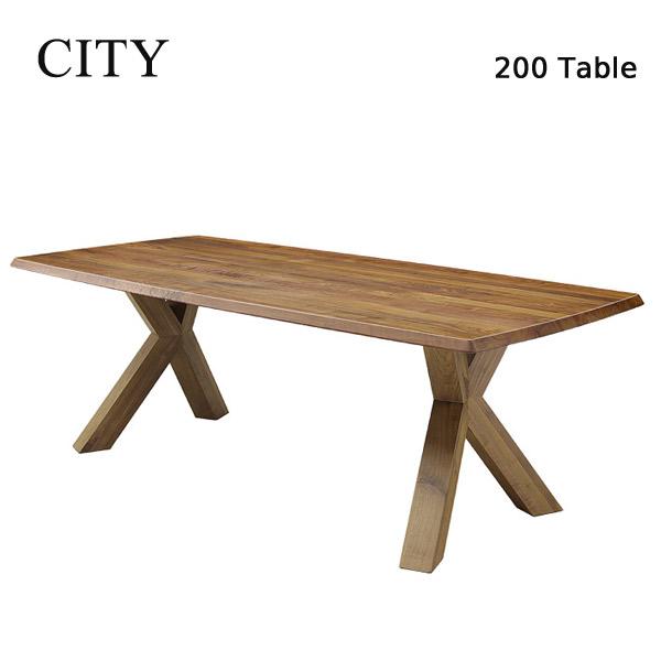 対象ショップ限定エントリーでポイント5倍!3/31 09:59迄ダイニングテーブル 200テーブル 木製テーブル 食卓テーブル CITYシリーズ 【C-32 200ダイニングテーブル】 シティ/シンプルモダン/高級感/おしゃれ
