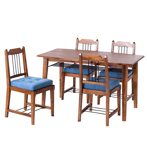 ダイニング5点セット 【MP-304T & MP-303】 4人掛け ダイニングテーブルセット 長方形 130cm幅 天然木 ダイニングテーブル ダイニング セット テーブル チェア リビング おしゃれ 食卓 食卓テーブル