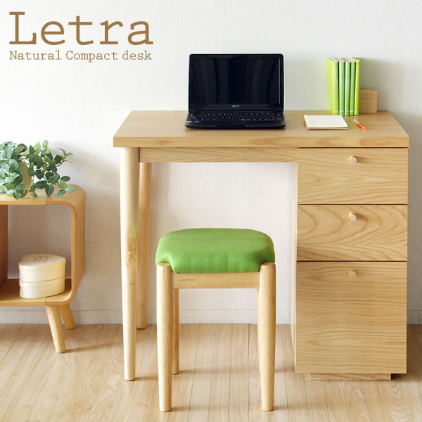 Desk Letra Ledger Compact Three Stage Withdrawal With Natural Color Plenty Of Storage Simple Cute Stationery Design Work