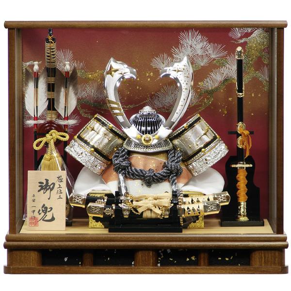 五月人形 兜ケース飾り 兜飾り コンパクト 611 昴 12号 【154】 かぶと飾り/5月人形/端午の節句 【数量限定】