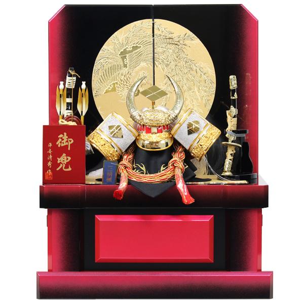 五月人形 兜 コンパクト おしゃれ 武田信玄 収納飾り 兜収納飾り 5月人形 モダン 戦国武将 初節句 男の子 端午の節句 【RO600K91】 展示現品