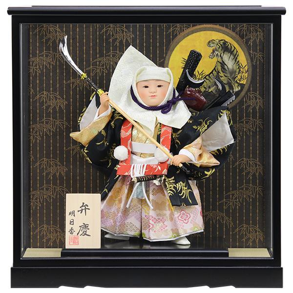 五月人形 端午の節句 絶品 ケース飾り 超特価 ケース入り コンパクト こども大将 おしゃれ 661K21 5月人形 数量限定 6号弁慶