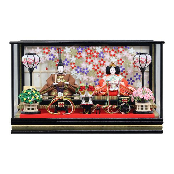 雛人形 ひな人形 衣裳着 ケース飾り 親王飾り 衣裳着人形 桃の節句 ひな祭り お雛様 163 3S83214W