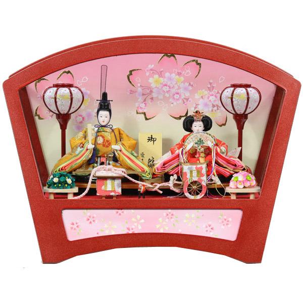 展示現品 雛人形 ひな人形 ケース飾り 親王飾り 951S51 七海(ななみ) 衣裳着人形 桃の節句/ひな祭り/お雛様