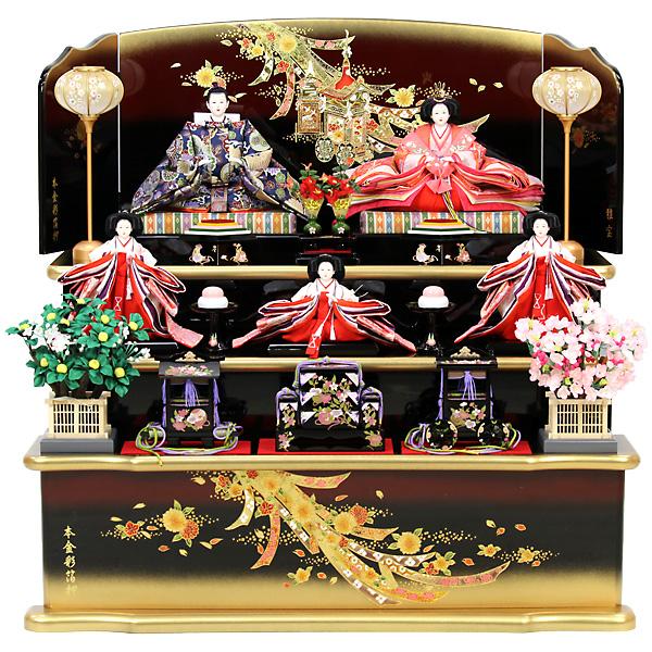 雛人形 ひな人形 雛 三段飾り 五人飾り RO410S61 衣裳着人形 桃の節句/ひな祭り/お雛様/数量限定