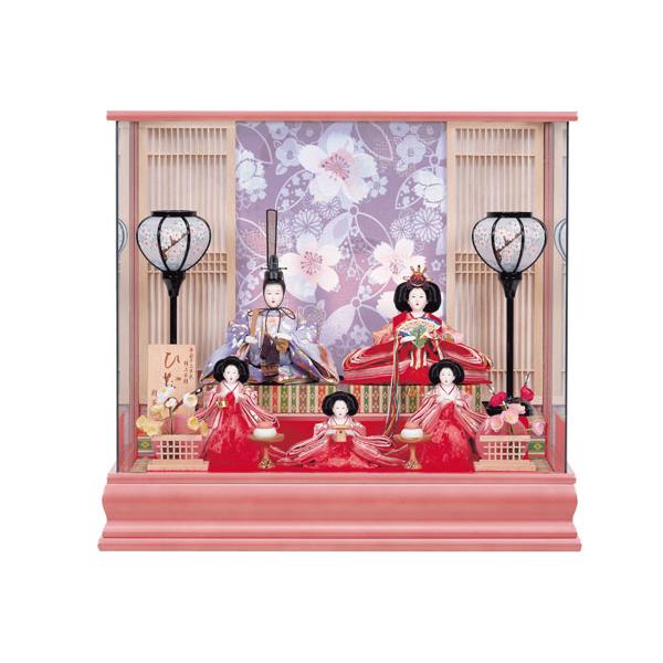 数量限定 雛人形 ひな人形 ケース飾り ケース入り 五人飾り 243 小三五 小芥子5人 ひなの 衣裳着人形 桃の節句/ひな祭り/お雛様