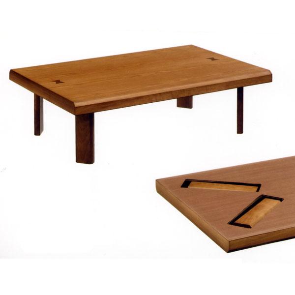 【送料無料】 座卓 120座卓 【 雅(象嵌入り)・折脚 】 折脚タイプ テーブル