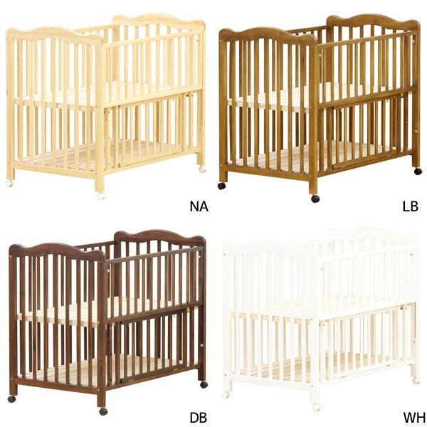 ベビーベッド 【anesis アネシスベビーベッド】 bed/赤ちゃん用/すのこ床板/ハイタイプ/収納板付き
