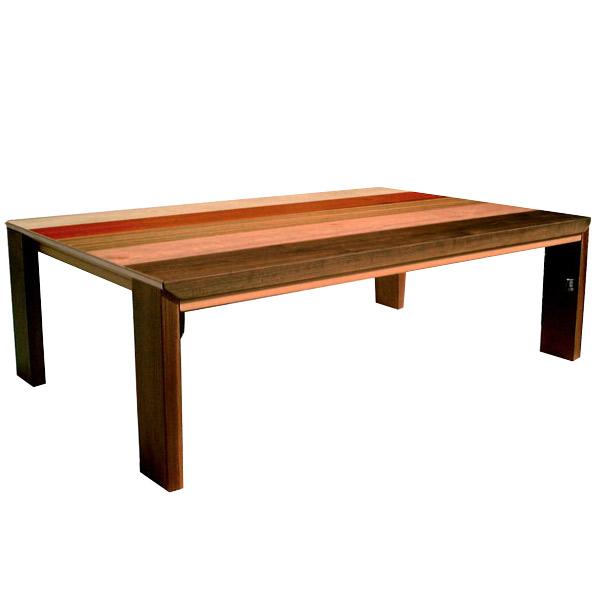 こたつテーブル 脚折れ 国産 コンパクト 日本製 長方形 デザイン 天然木 脚折れ 105×75 折れ脚 こたつ本体 省エネ 折りたたみ デザインこたつ 電気こたつ COUS-COUS クスクス ウォールナット 105サイズ