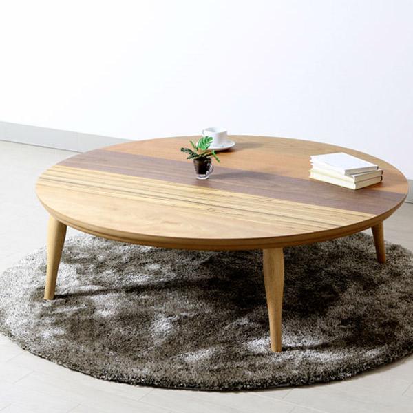 家具調こたつ 円形 丸ボーダー こたつ本体 円卓テーブル 丸形 アップ 円型 国産 高級感 丸型こたつ テーブル こたつ 120 日本製 おしゃれ リビングテーブル 丸