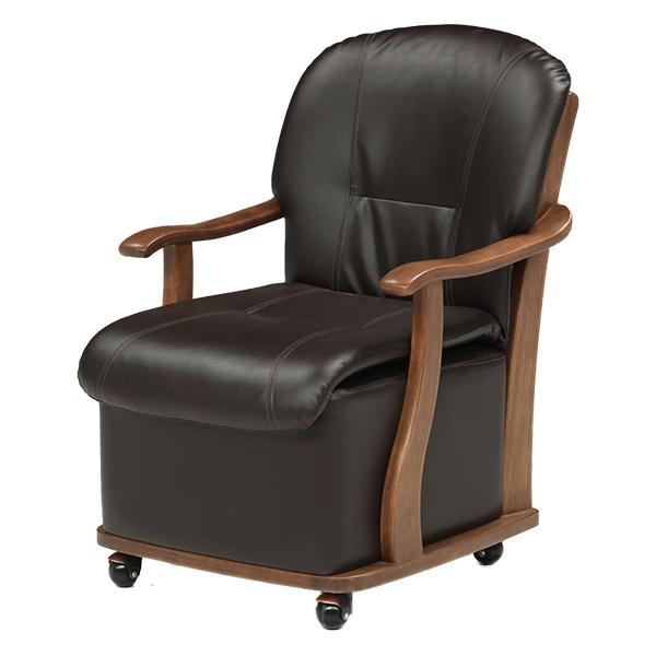 ハイタイプこたつ用チェアー [UKC-217] ハイタイプこたつ用椅子 キャスター付 送料無料