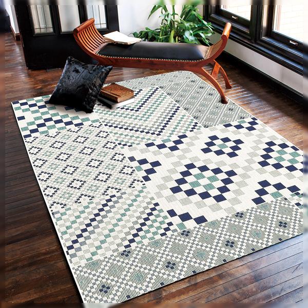 カーペット ラグ 【ルル 3343 200×250】 200cm幅 絨毯 敷物 リビング ダイニング モザイクパターン ベルギー製
