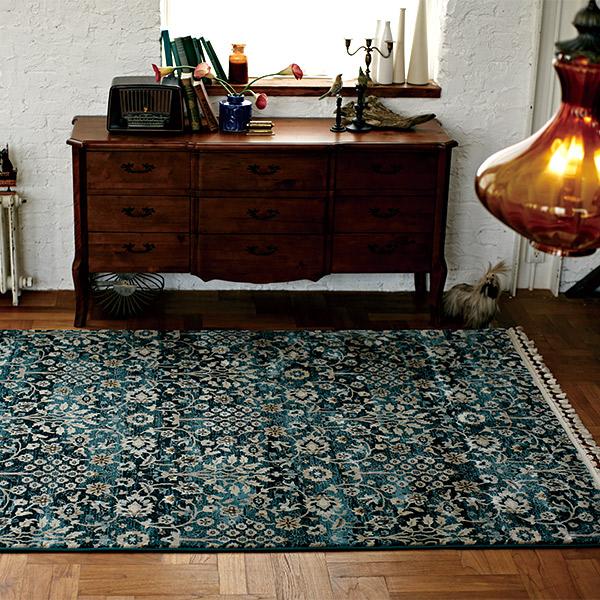 長方形 カーペット 絨毯 【AQUAHOME アクアホーム】 ラグ/カーペット 約200×250cm トルコ製 【送料無料】