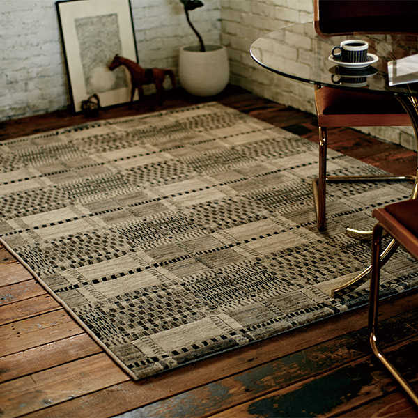 長方形 カーペット 絨毯 【SIRA シーラ】 ラグ/カーペット 約133×195cm ベルギー製 【送料無料】