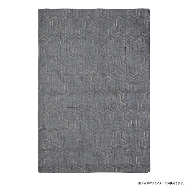 カーペット ラグ【RAJ-1806】GY/約130×190