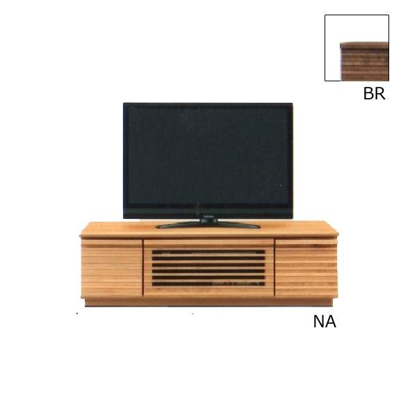 テレビ台 AV機器収納 【クレンソン】 幅120TVボード 引出し 箱組み スライドレール付 木製 リビング 2色対応 BR NA 収納家具