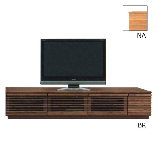 テレビ台 AV機器収納 【クレンソン】 幅180TVボード 引出し 箱組み スライドレール付 木製 リビング 2色対応 BR NA 収納家具