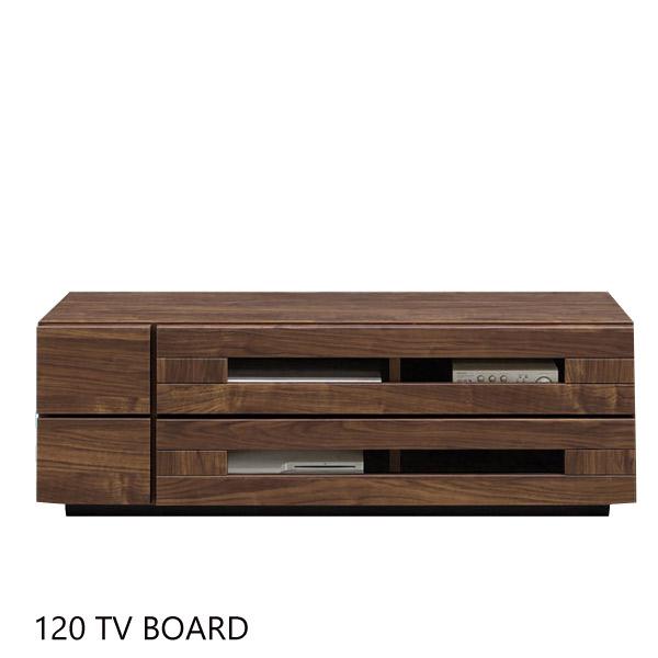 テレビボード ハドソン 120TVボード テレビ台/リビングボード/ローボード フルオープンレール/引出しダボ箱組/フラップ式 幅120cm