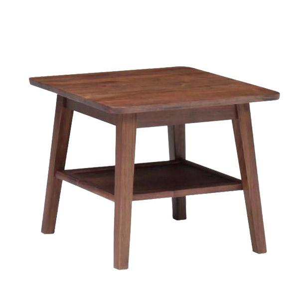 サイドテーブル ウォールナット無垢材 (ブルーノ 60サイドテーブルH50)bruno walnut