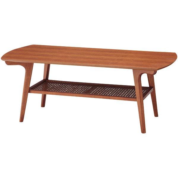 コーヒーテーブル【Fjord フィヨルド RON-101】センターテーブル リビング 天然木 ラタン シンプル 北欧風【送料無料】